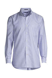 Men's Patterned Tailored Fit Easy-iron Button-down Supima Oxford Shirt