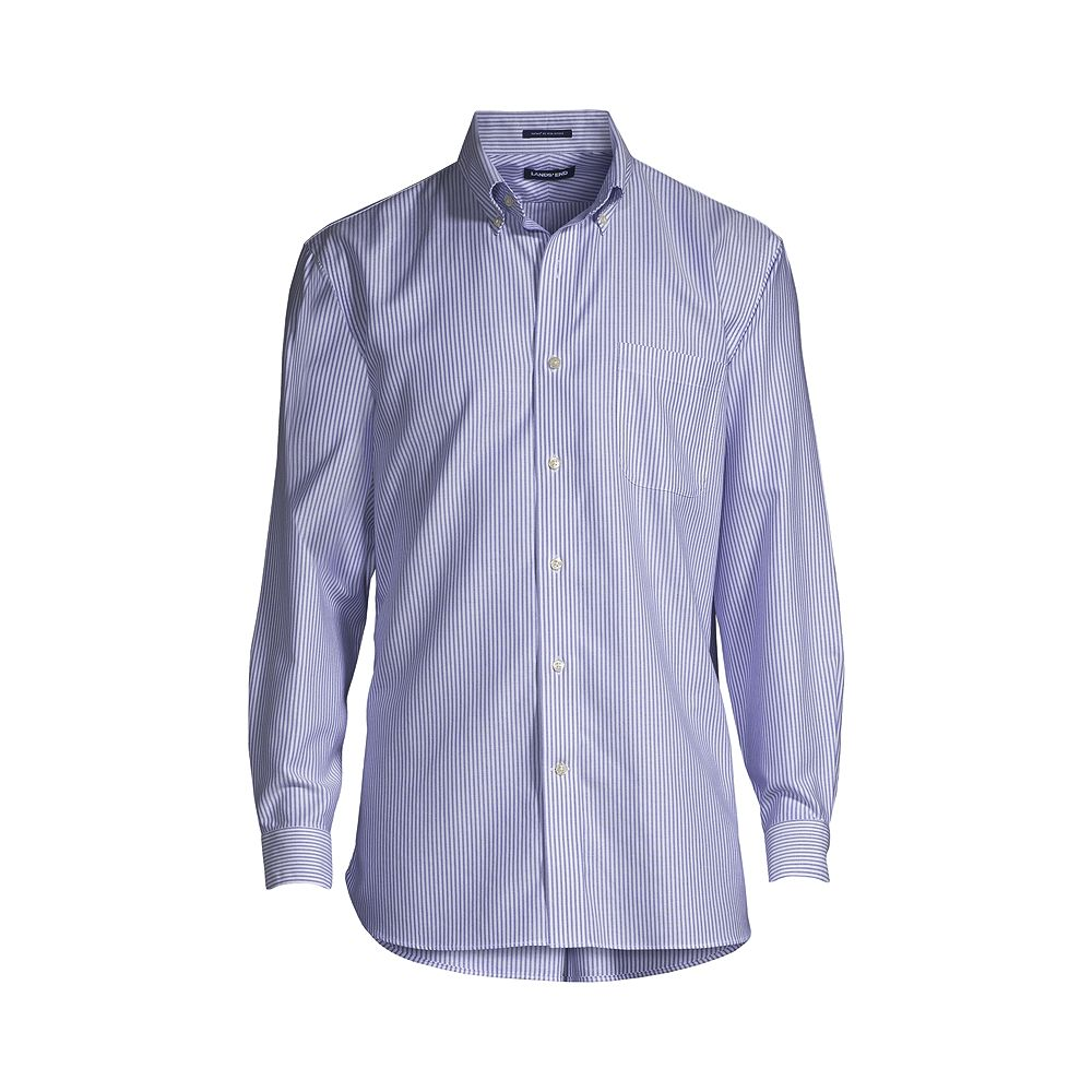 Lands' End Men's Big & Tall Traditional Fit Pattern No Iron Supima Oxford Dress Shirt at Sears.com