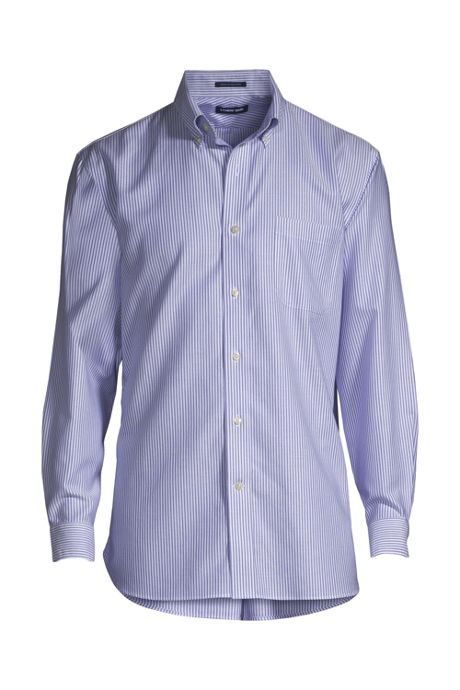 119934539 Men s Big   Tall Traditional Fit Pattern No Iron Supima Oxford Dress Shirt