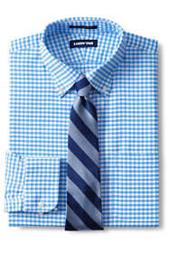 Men's Slim Fit Pattern No Iron Supima Oxford Dress Shirt