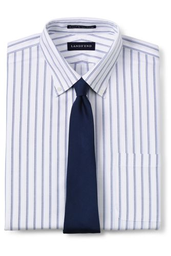 Men's Traditional Fit Pattern No Iron Supima Oxford Dress Shirt by Lands' End