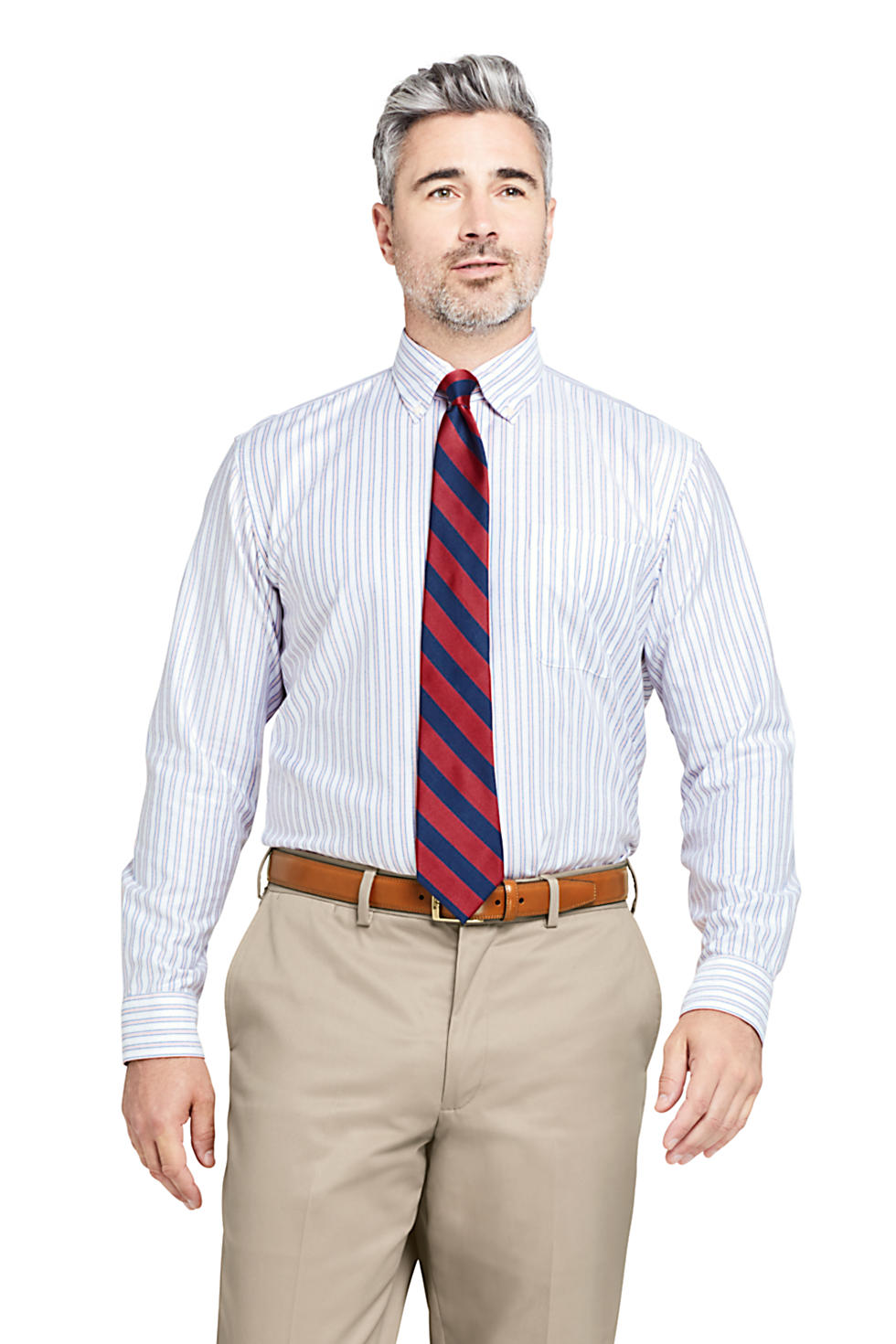Lands' End Men's Traditional Fit Supima Oxford Dress Shirt (various styles and sizes)