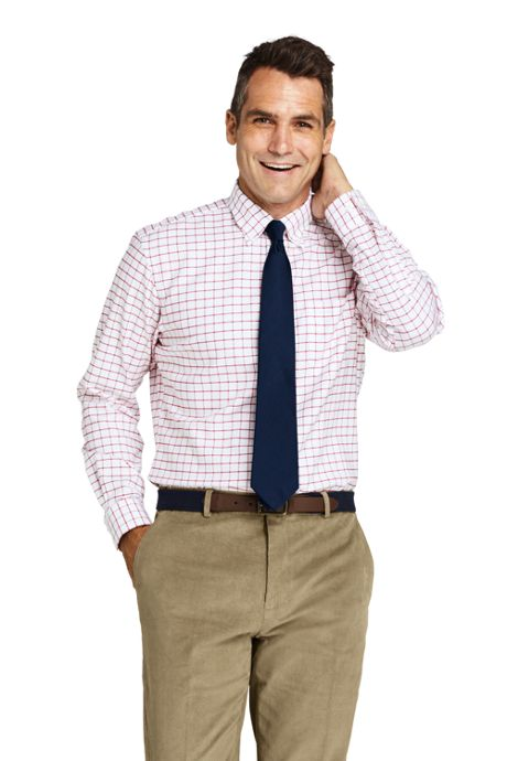 Men's Traditional Fit Pattern No Iron Supima Oxford Dress Shirt