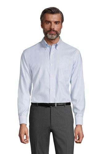 MODERN FIT. Buttondown-Kragen. Gemustertes, bügelleichtes Oxfordhemd