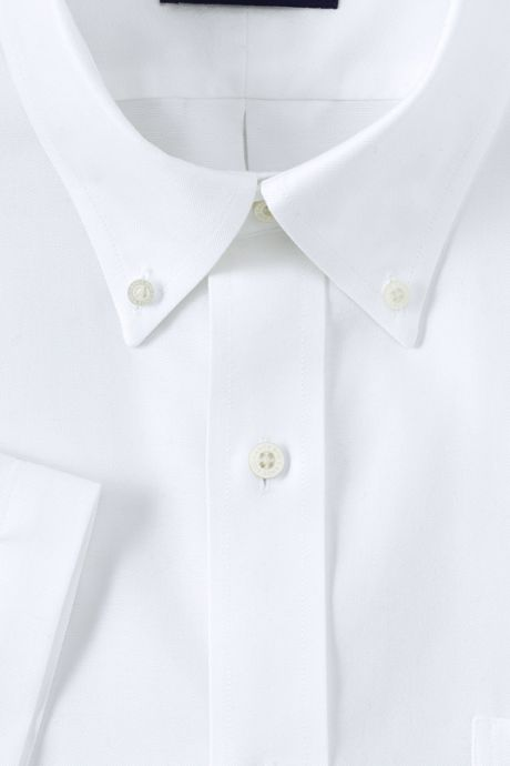 Men's Big & Tall Traditional Fit Short Sleeve Solid No Iron Supima Oxford Dress Shirt