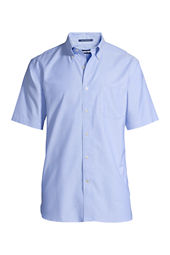 Men's Short Sleeve Traditional Fit Solid No Iron Oxford Shirt
