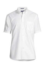 Men's Tall Traditional Fit Short Sleeve Solid No Iron Supima Oxford Dress Shirt