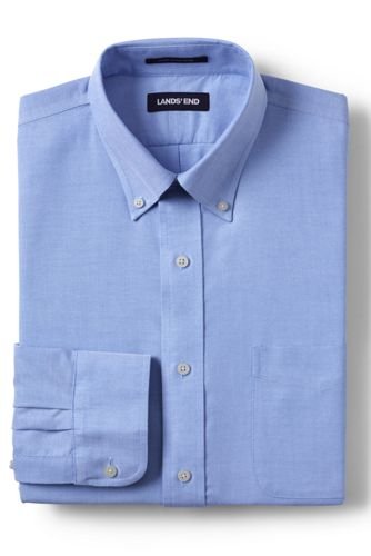 Men's Tailored Fit Easy-iron Button-down Supima Oxford Shirt