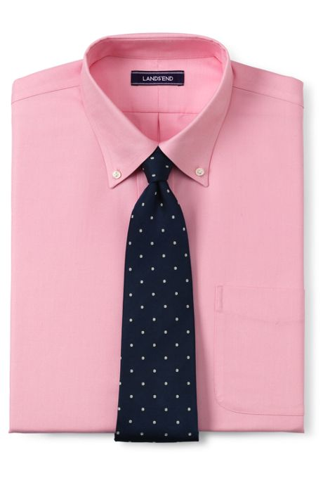 Men's Tailored Fit Solid No Iron Supima Oxford Dress Shirt