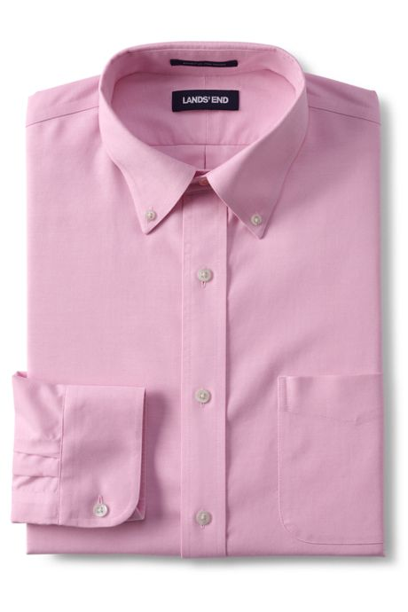 Men's Tall Traditonal Fit Solid No Iron Supima Oxford Dress Shirt