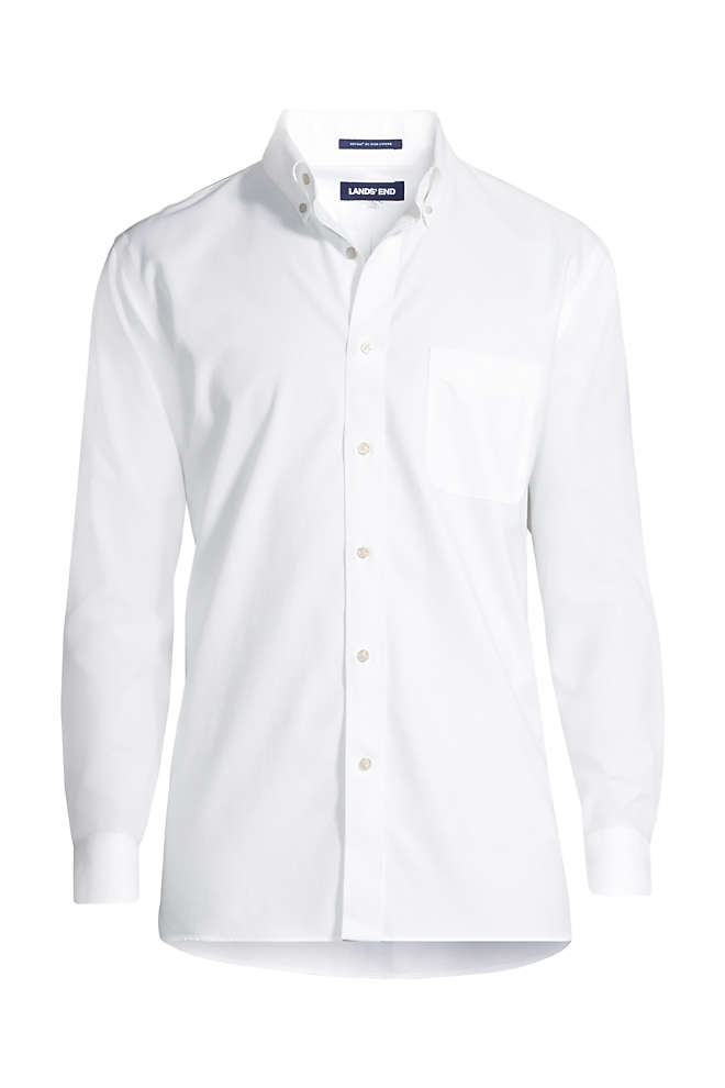 Men's Slim Fit Solid No Iron Supima Oxford Dress Shirt, Front