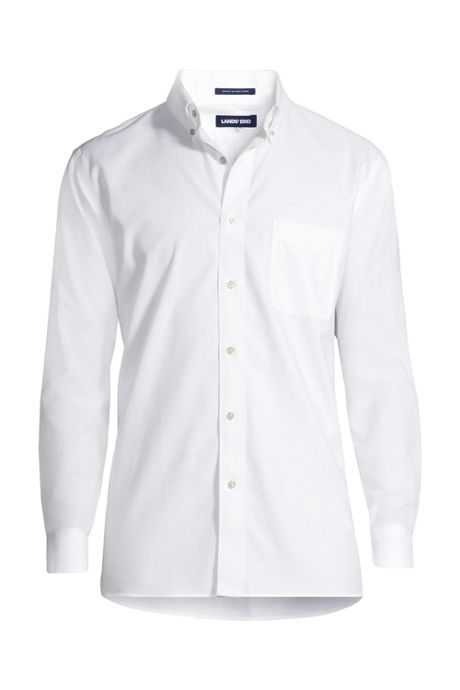 Men's Slim Fit Solid No Iron Supima Oxford Dress Shirt