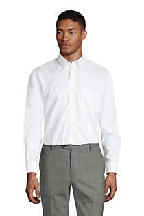 Men's Traditional Fit Solid No Iron Supima Oxford Dress Shirt, Front
