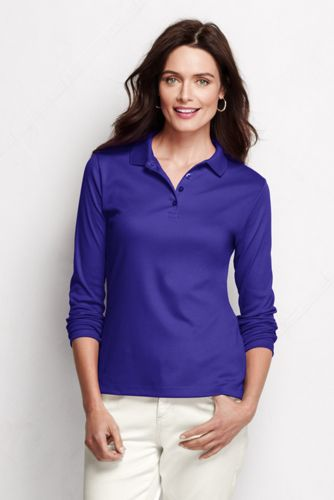 Le Polo Pima Manches Longues Femme, Taille Standard