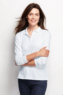 Women's Long sleeve Pima Polo Classic Fit