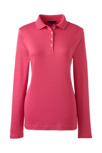 Women's Regular Long sleeve Pima Polo Classic Fit