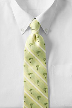 Palm Tree Stripe Necktie 413728