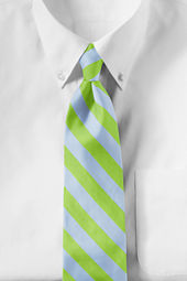 Men's Long 2-color Awning Stripe Necktie