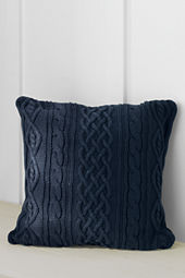 "20"" x 20"" Lakeland Cotton Cable Decorative Pillow Cover or Insert"