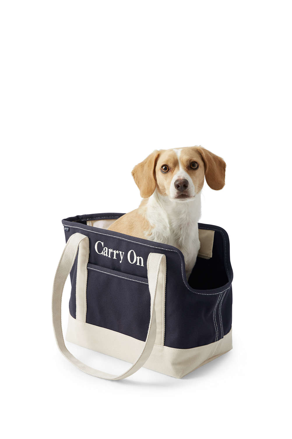 Canvas Tote Pet Carrier from Lands  End 2d63ef9dfe63