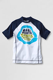 Boys' Short Sleeve Deep Sea Graphic Rash Guard