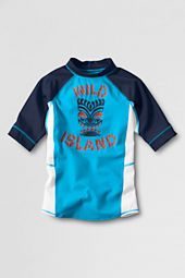 Toddler Boys' 5/8-sleeve Tropical Turquoise Rash Guard