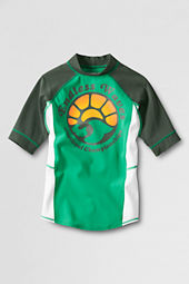 Boys' 5/8-sleeve Spring Palm Green Rash Guard