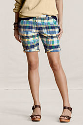 Canvas Women's Plaid Bermuda Shorts