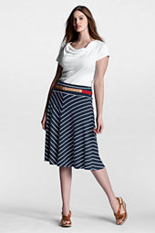 Women's Plus Size Pattern Knit Convertible Skirt