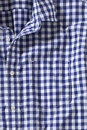 Men's Checkered Poplin Shirt