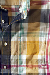 Men's Plaid Poplin Shirt