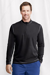 Men's Long Sleeve Half-zip Mockneck Rash Guard