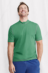 Men's Short Sleeve Half-zip Mockneck Rash Guard