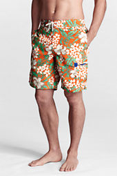 "Men's 9"" Pattern Single Pocket Cargo Swim Shorts"
