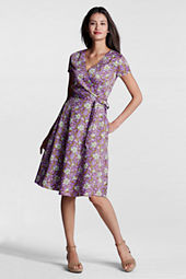 Women's Pattern Surplice Dress