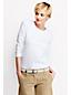Supima Langarm-Shirt mit rundem Ausschnitt für Damen