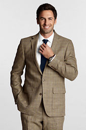 Men's Tailored Pattern Linen Jacket