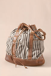 Women's Striped Overnight Bag