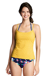 Women's Long SwimMates Dot Print Scoop Cami Top