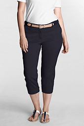 Women's Plus Size Fit 2 Tummy Control Original Stretch Chino Slim Crop Pants