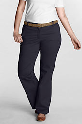 Women's Plus Size Fit 2 Exhale™ Tummy Control Original Wide Leg Stretch Chino Pants