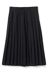 School Uniform Solid Long Pleated Skirt