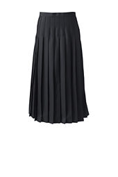 Women's Solid Long Pleated Skirt