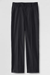 School Uniform Plain Front Dress Pants