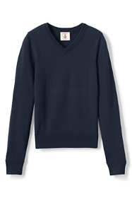 School Uniform Boys Fine Gauge V-neck Pullover