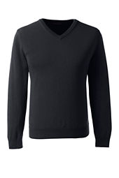 School Uniform Fine Gauge V-neck Sweater