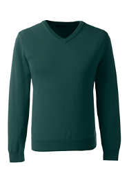 School Uniform Men's Fine Gauge V-neck Pullover