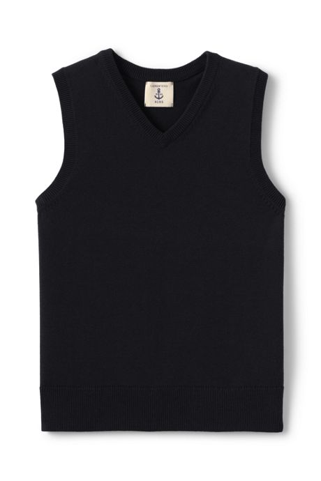 Little Boys Fine Gauge V-neck Vest