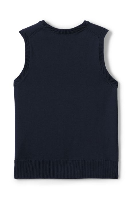 Boys Fine Gauge V-neck Vest
