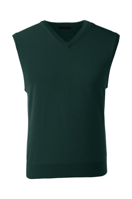 School Uniform Men's Performance Fine Gauge V-neck Vest